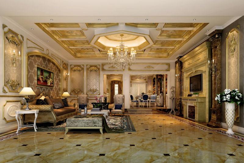 腹地御香山 380平米 现代欧式 别墅 客厅图片来自cdxblzs在腹地御香山 380平米 欧式的分享