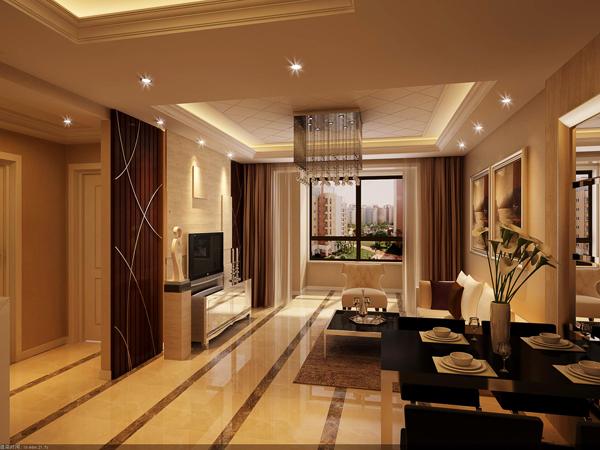 现代 简约 二居 客厅图片来自半岛e家小刘在蓝山湾的分享