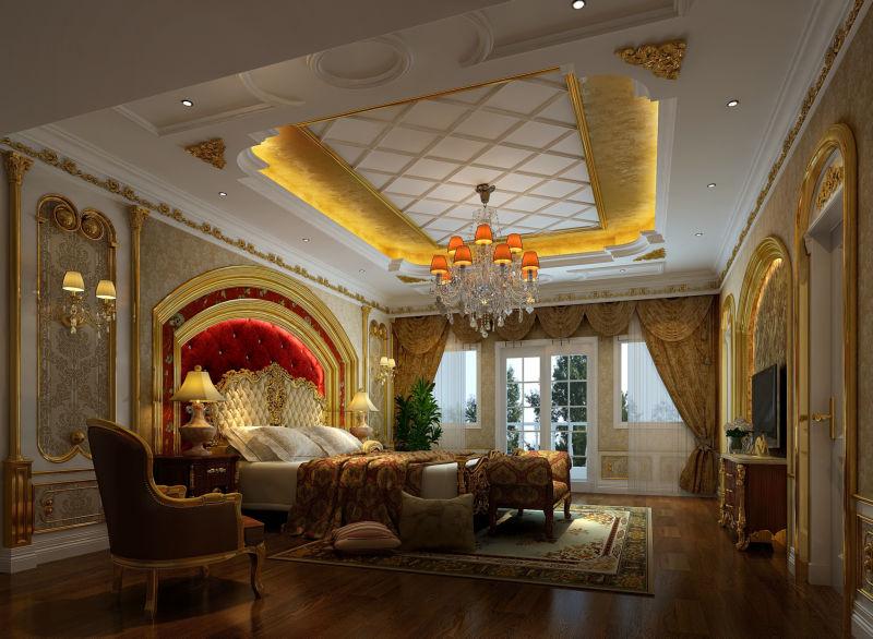腹地御香山 380平米 现代欧式 别墅 卧室图片来自cdxblzs在腹地御香山 380平米 欧式的分享