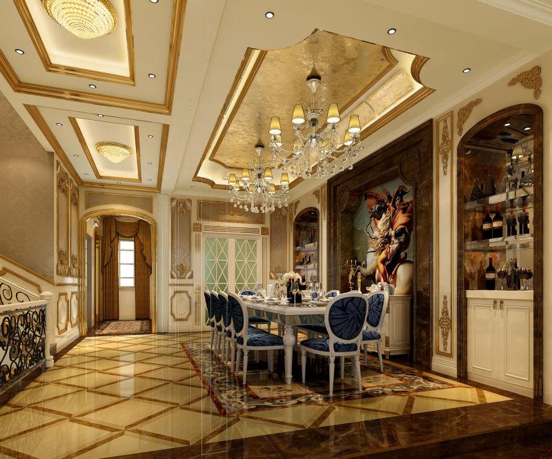 腹地御香山 380平米 现代欧式 别墅 餐厅图片来自cdxblzs在腹地御香山 380平米 欧式的分享