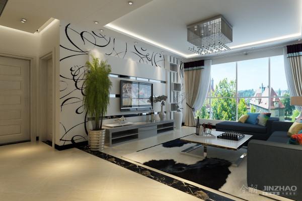 本案设计为现代简约风格,黑白灰色调。为了更适合主人的居住要求,本案在平面布局上做了很大调整,强调空间的自然融合。客厅空间讲究精巧丰富,开敞式餐厅让空间更加丰富多彩。让主人享有更多浪漫的私人空间。