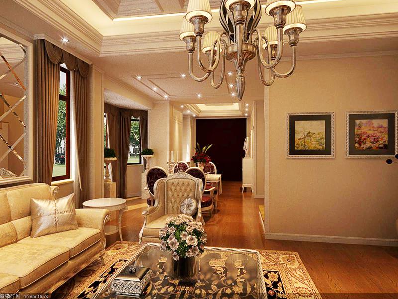 欧式 别墅 客厅图片来自半岛e家小刘在世茂简欧的分享
