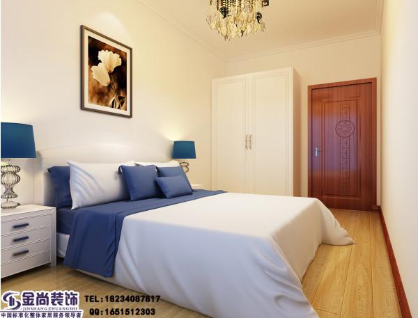 白色床单单配蓝色枕头简约,又比较居家