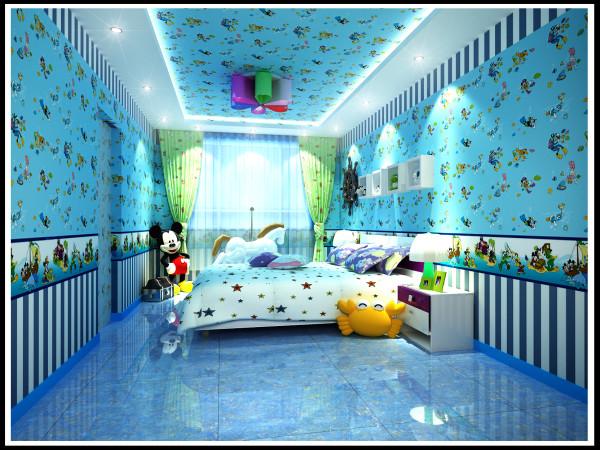 梦幻般的儿童房让你置身其中,让你走进梦幻的世界。给夏季增添了一丝的清凉。