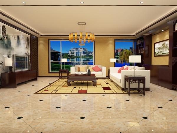 中式风格的客厅清雅大方,端庄丰华,传统中透着现代,现代中揉着古典体现中国文化海纳百川的大气。