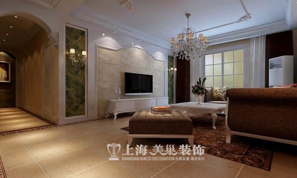 建业森林半岛120平三室两厅装修效果图--电视背景