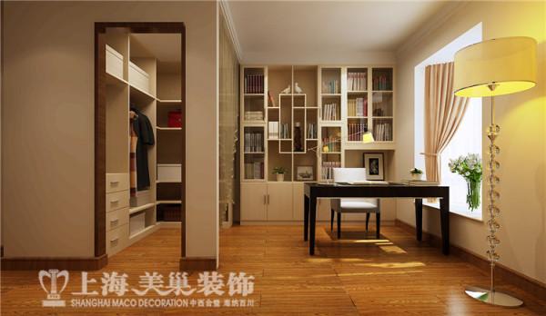 祥和花园190平方四室两厅现代简约装修案例-书房装修效果图