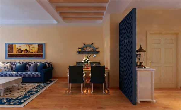 玄关设计: 自然纯朴的木本色搭配白色,地中海的自然气息扑面而来。