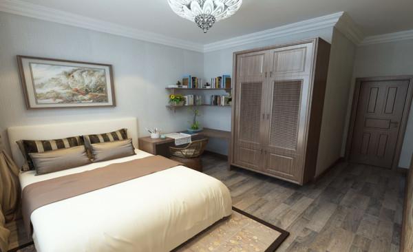 卧室设计: 整个卧室实用而不失美感,营造出一种温馨、舒适的氛围,充分利用好每个空间,使每平方米的空间都能充分的被利用,满足业主的需求与心灵的享受!