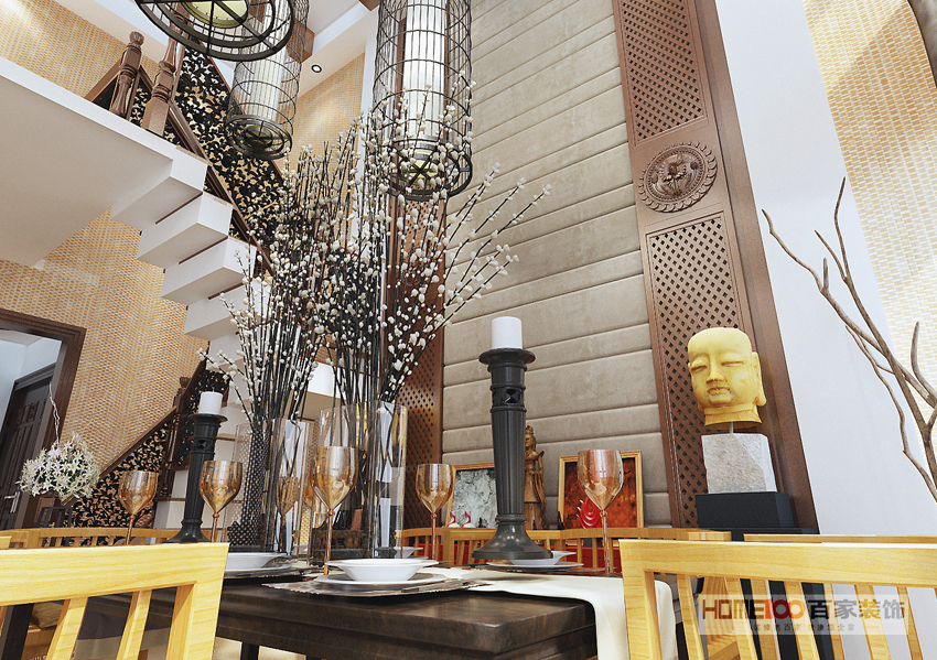 餐厅图片来自百家装饰小王在万科四季花城150平的分享