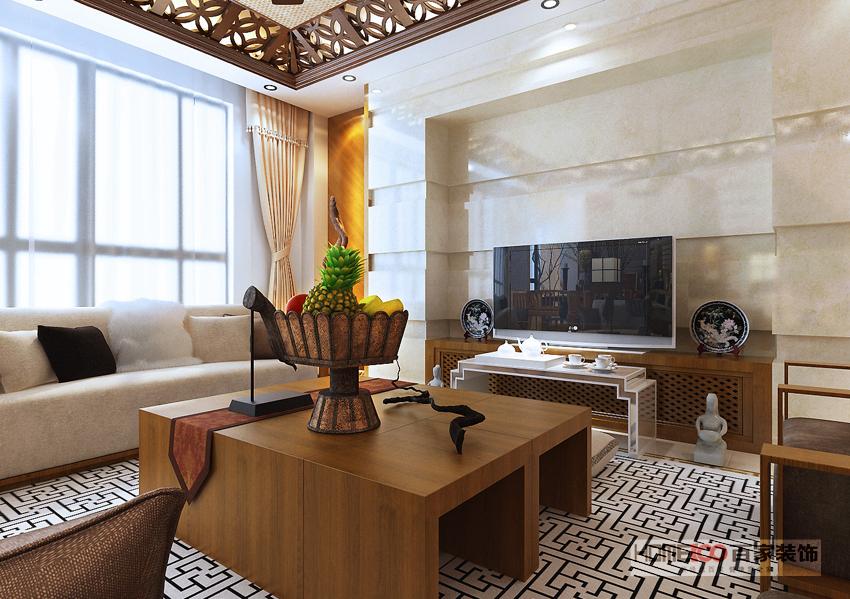客厅图片来自百家装饰小王在万科四季花城150平的分享
