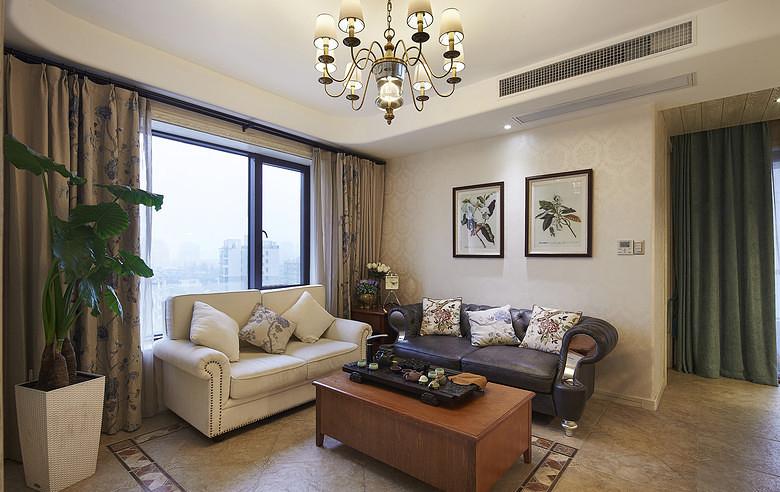 客厅图片来自家装大管家在夏日乐悠悠 105平美式休闲3居的分享