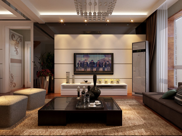 客厅现代化电视墙设计理念