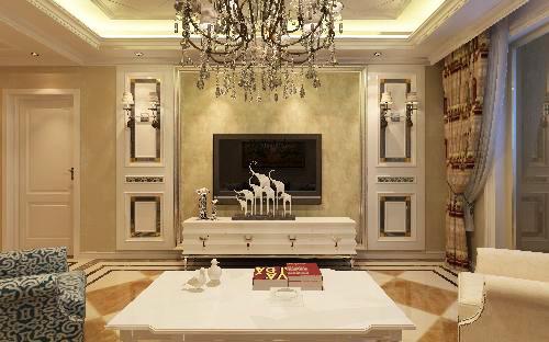 石家庄业之峰装饰-弘石湾128平米现代简约风格装修设计效果图
