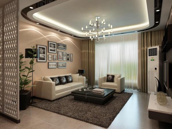 沙发背景墙壁纸我选用了比较暖的偏向于时尚的颜色 壁纸的朴素大方来装饰墙面的景点 以简单的挂画做简单装饰 和沙发相互呼应 形成了一个简洁时尚的客厅空间