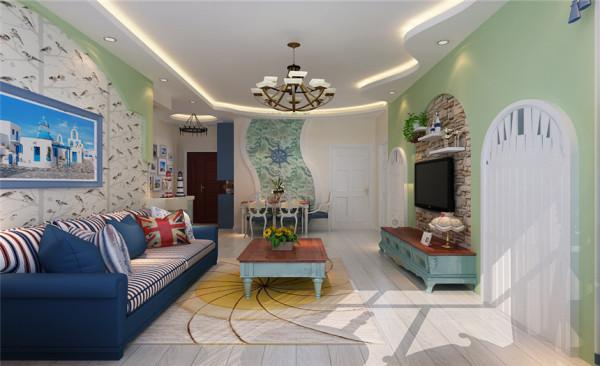 客厅设计: 线条是构造形态的基础,因而在家居中是很重要的设计元素。地中海沿岸对于房屋或家具的线条不 是直来直去的,显得比较自然,因而无论是家具还是建筑,都形成一种独特的浑圆造型