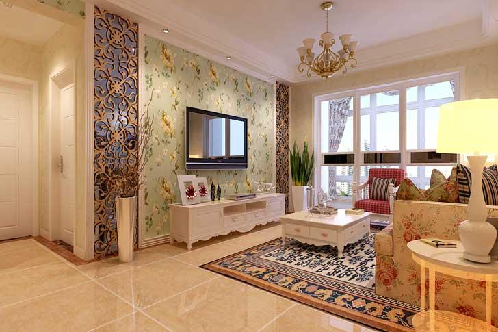 新古典风格 两居室 客厅图片来自长沙业之峰在案例效果的分享