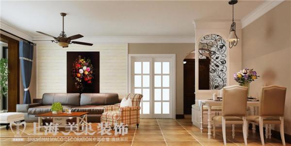 金域上郡120平3室2厅混搭风格装修效果图——客餐厅