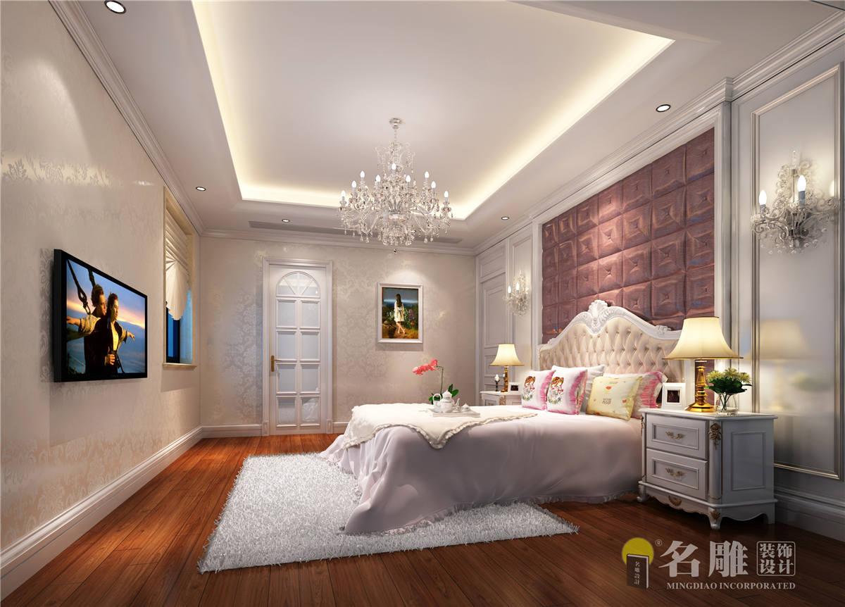 简欧 复式 可逸江畔 豪宅 舒适 卧室图片来自广州名雕装饰在可逸江畔的分享
