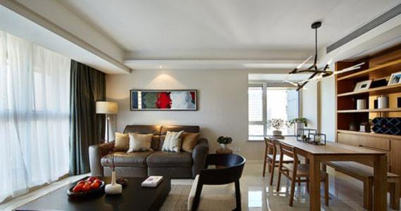 客厅和餐厅在一个空间内,但并不觉得拥挤,空间利用率高。