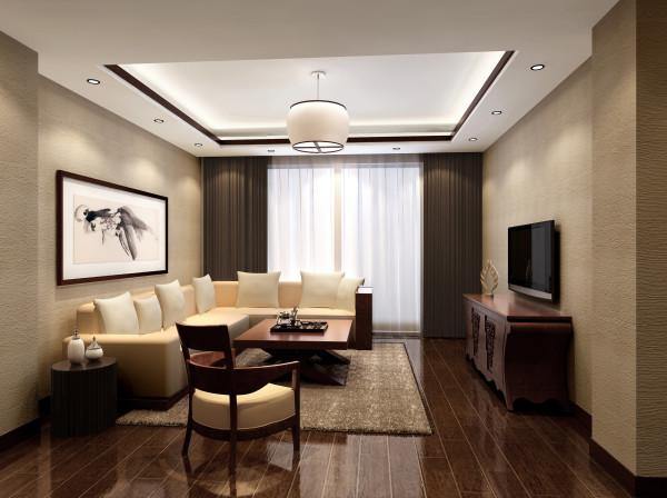 简约中式客厅有着传统家庭装修的祥和与安逸