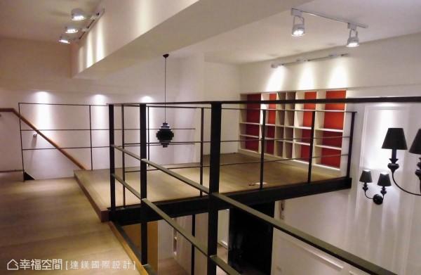 善用建筑原有的挑高设计,规划了二楼挑高区,以H钢材质打造出如纽约小阁楼的Loft风格。 (此为3D合成示意图)