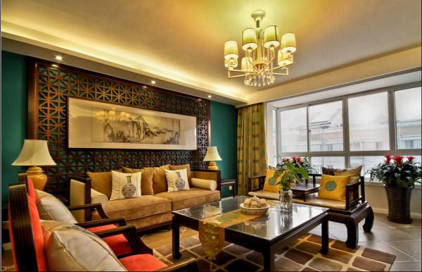 中式图纹的配饰和地毯,更凸显当代中国雅宅的气度与典范