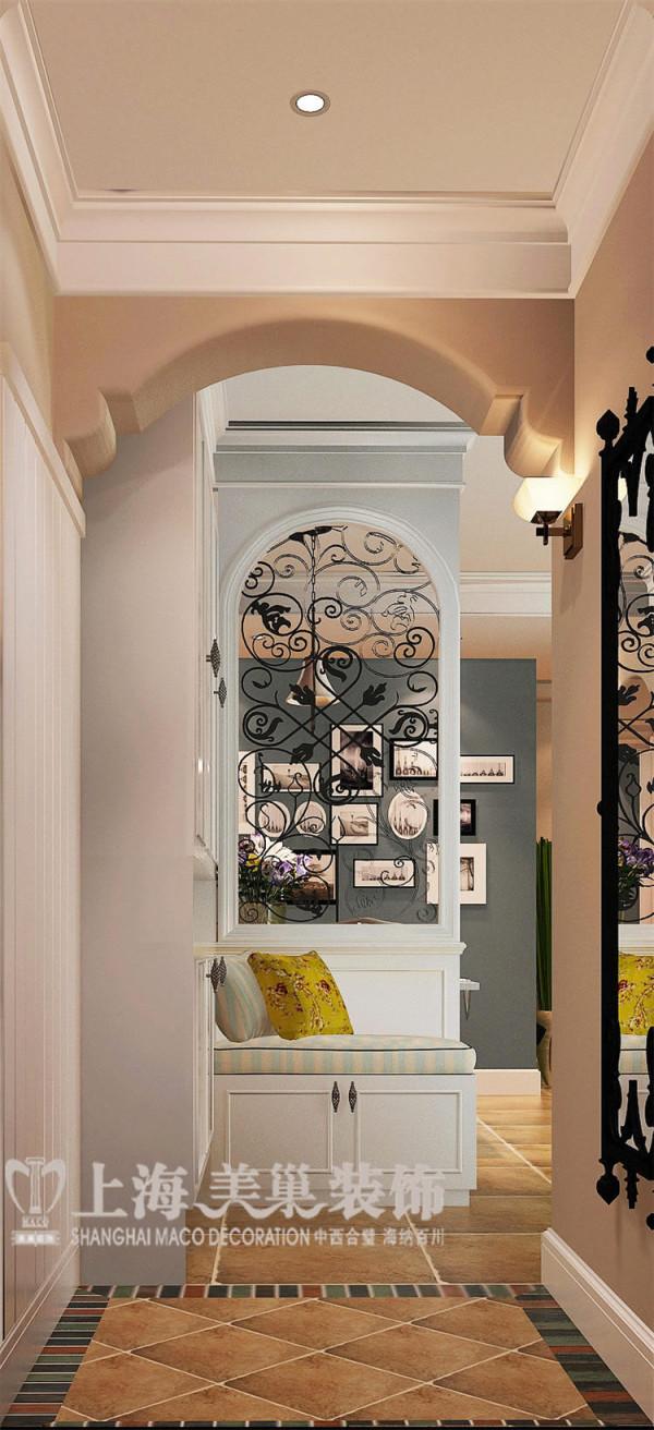 金域上郡120平三室两厅混搭风格装修效果图——门厅