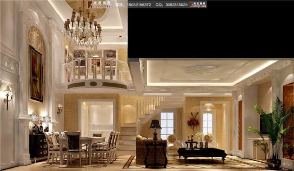 中德英伦联邦客厅细节效果图---成都高度国际装饰设计