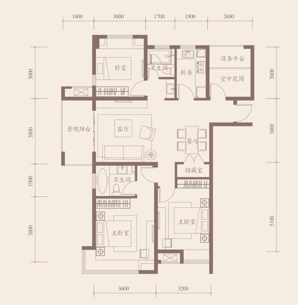 保利拉菲公馆-111平米-欧式经典风格装修-户型图