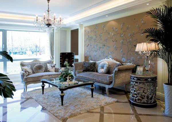 客厅的沙发简单、大气、美观,搭配着造型唯美的茶几,给人一种舒服、时尚的感觉。