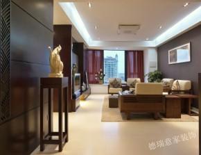 中式 三居 收纳 餐厅 客厅 卧室 书房 温馨 舒适 客厅图片来自青岛德瑞意家装饰郭欣在新中式风格的经典展现两室两厅的分享