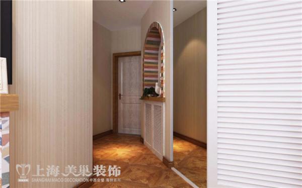 医学院家属院120平三室两厅美式乡村风格装修效果图——门厅