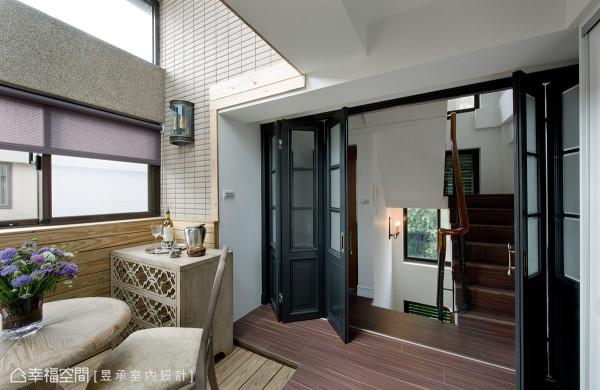 五楼休憩区因加做采光罩而更好利用,只要摆设休闲家具或藤编户外家具就能在此做日光浴或下午茶。