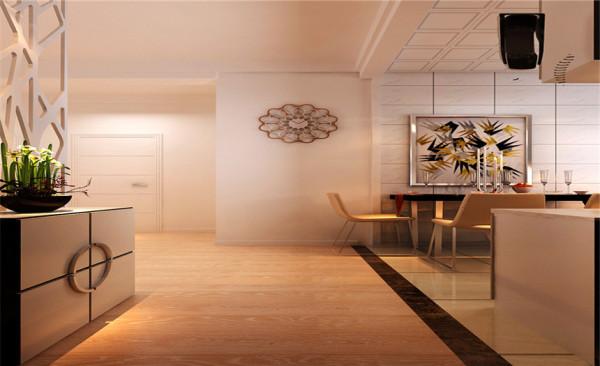 门厅设计: 进户门的隔断,增加了室内隐私性,区分了进户门口与电脑区域,是一个完美的区域划分