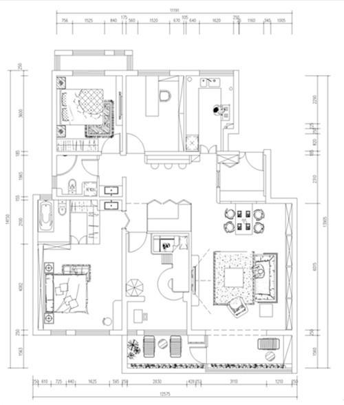 此乃整个房屋户型图