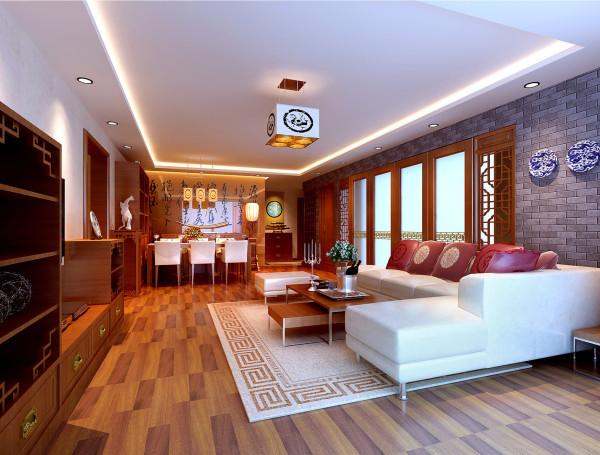餐厅:改良的中式家具和配饰在充满现代感的空间内,重新演义了古典主义。 亮点:家具的简单的直线条,使中式中又有了几分现代的气息。