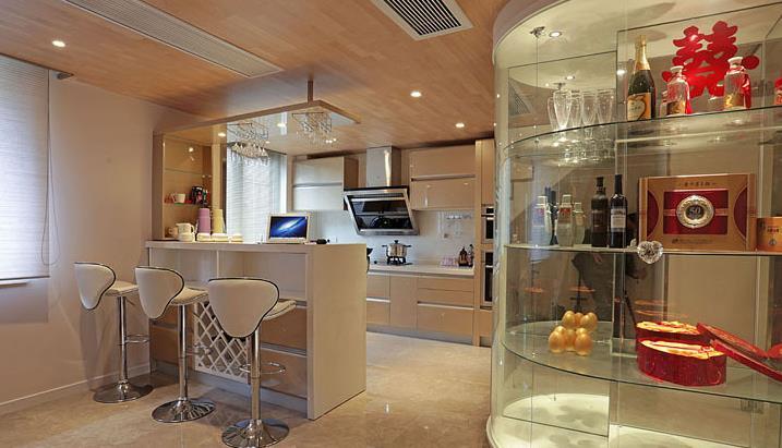 港式 婚房 白领 浪漫情怀 厨房图片来自佰辰生活装饰在162平港式跃层 浪漫二人世界的分享