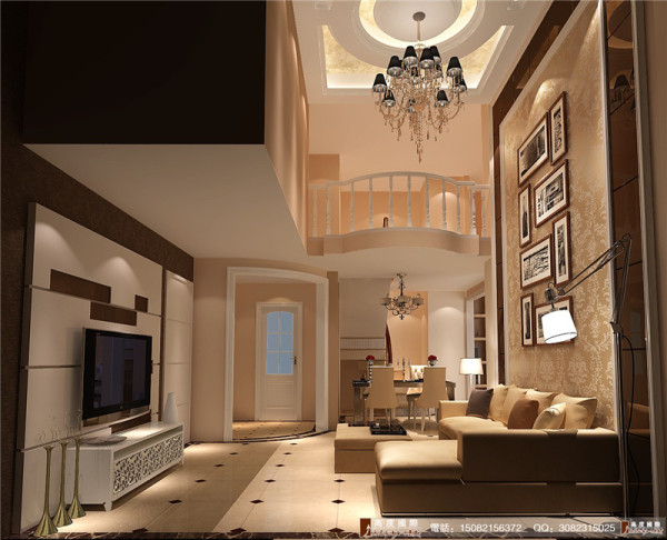 保利百合客厅细节效果图--成都高度国际装饰设计