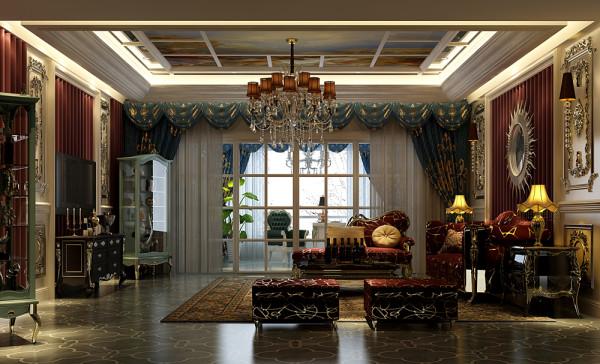 城南一号法式风格 会客厅装修效果图