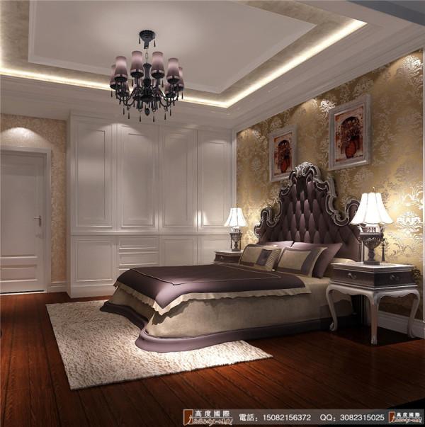保利百合卧室细节效果图--成都高度国际装饰设计