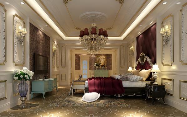 城南一号法式风格 主卧室装修效果图