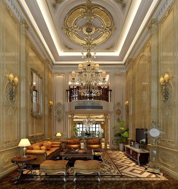 城南一号法式风格 客厅装修效果图