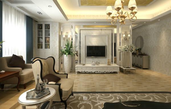 三口之家,男业主喜欢现代的简约大气,女业主喜欢欧式的奢华。设计师意欲通过对空间的整理与归纳,营造出安静祥和的宜居生活享受。
