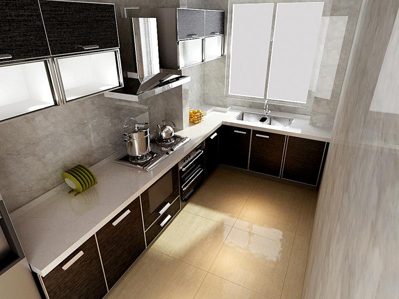 简约 二居 厨房图片来自沈阳新饰家装饰在金沙美丽岛78平米现代简约案例的分享