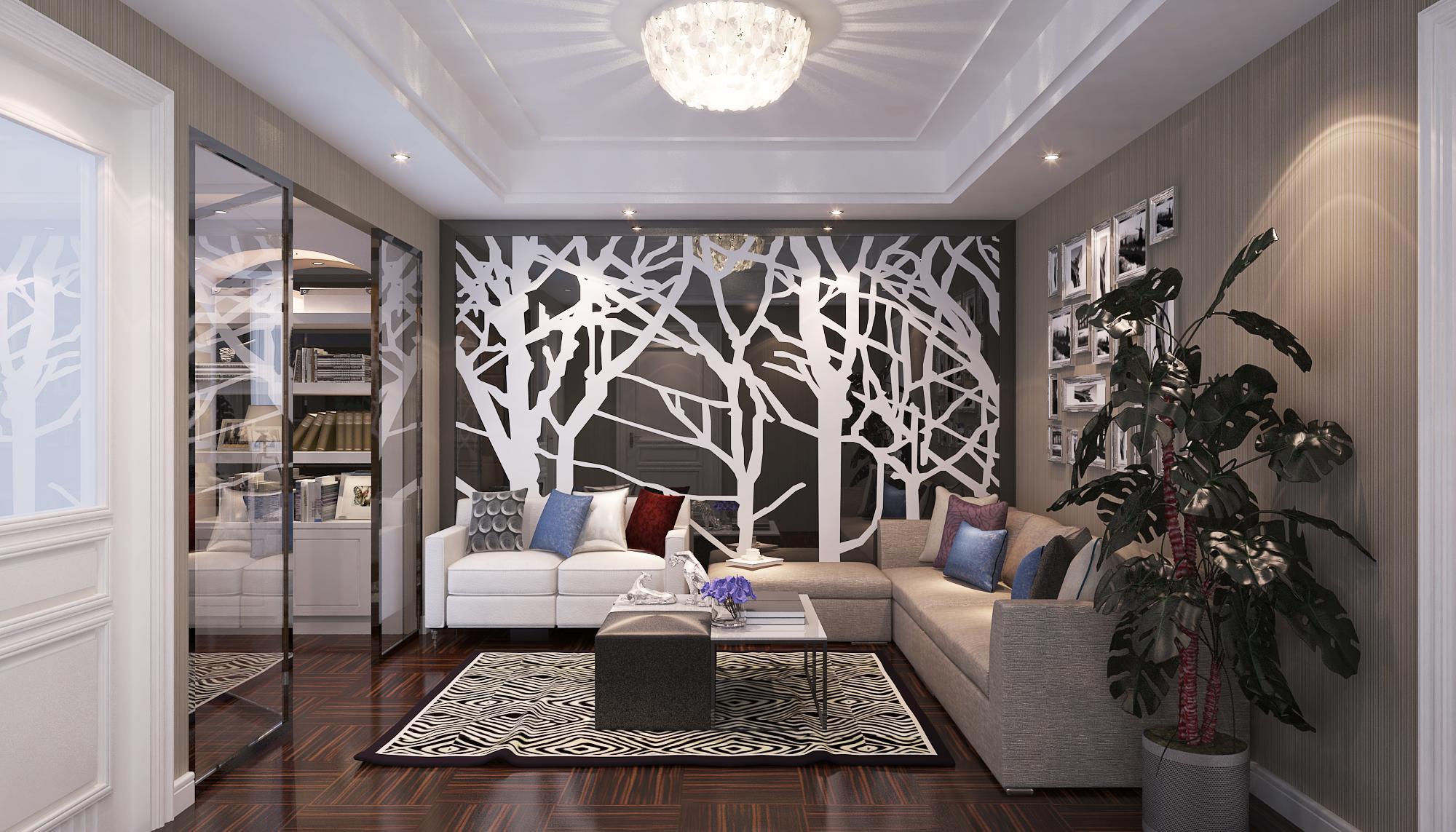 欧式 混搭 客厅图片来自Rebecca852在现代与欧式混搭-滨海琴墅的分享