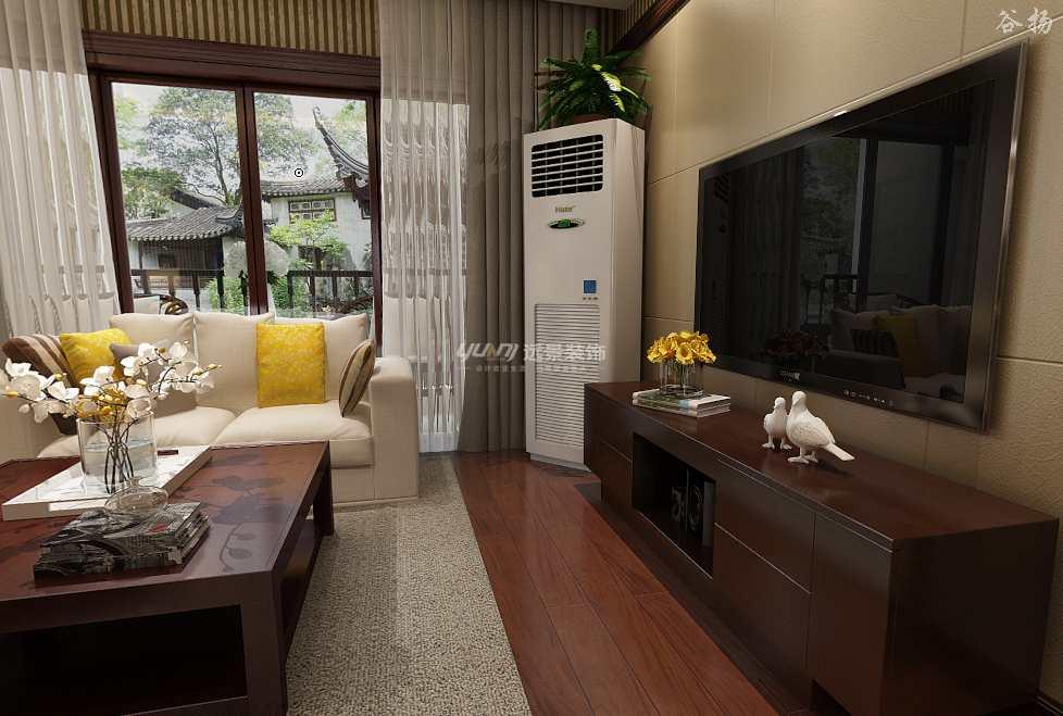 中式 三居 客厅图片来自重庆远景装饰_张其斌在新中式风格案例效果图的分享