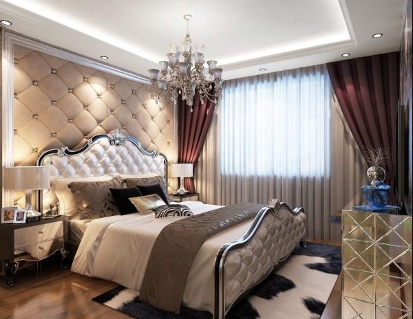 园博府(134平)欧式风格-三居室户型主卧效果图