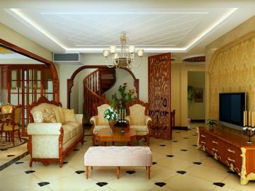 上海实创装饰六居室中欧混搭