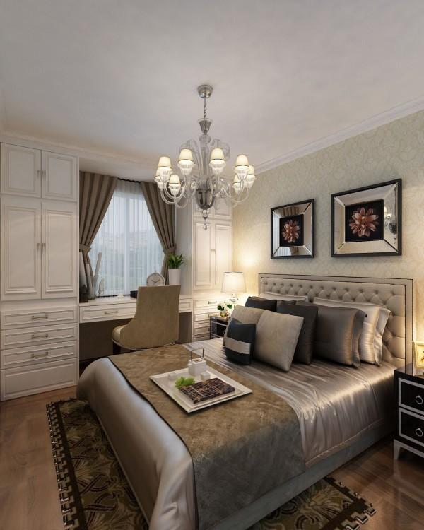园博府(134平)欧式风格-三居室户型次卧效果图